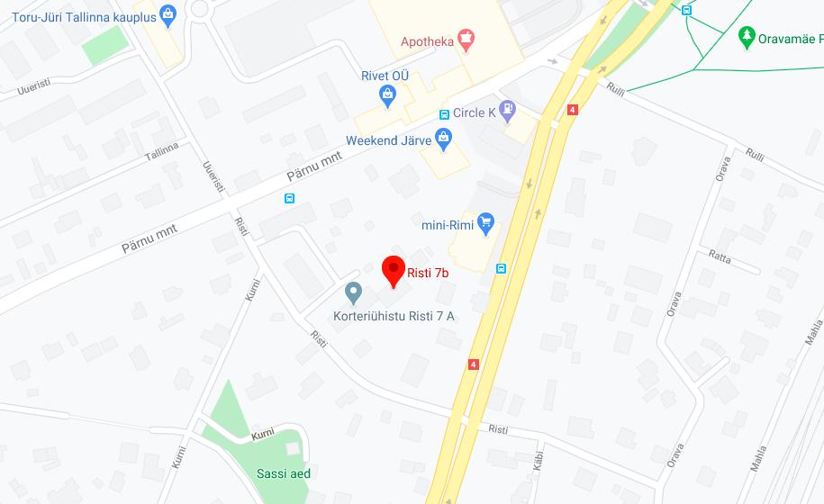 Vaiteri asukoht kaardil: Risti 7b